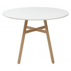 Стол COMET D100 белый/металл ламинированный