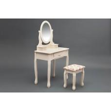 Туалетный столик с зеркалом и табуретом Secret De Maison «Coiffeuse» (Куэфюз) HX15-075 (Butter white (слоновая кость)