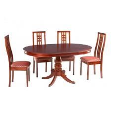 Стол 593-22 Темная вишня.Раз:90 х 90 (125) см, 107 х 107 (153) см;