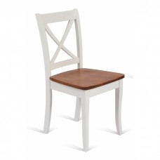 Стул JIN D-8186 WOODEN SEAT ANTIQUE OAK+WHITE