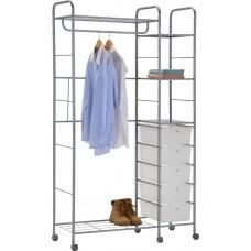 MK-2342. (CH-4617) Вешалка для гардеробных с пласт. ящиками, на колесиках (103х39х176h см)