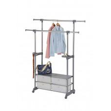 MK-2343. (CH-4618) Вешалка для гардеробных с 4-мя пластик.ящиками (93-148х44х120-180h см)