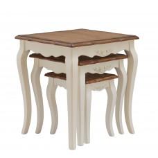 """MK-5036-AWB. Набор из 3-х столиков """"Florence"""" (56х48х59/ 42x42x48/ 34x28x37 см)"""