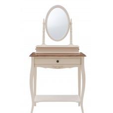 """MK-5031-AWB. Столик туалетный с зеркалом (овал) """"Florence"""" (70х40х142 см)"""