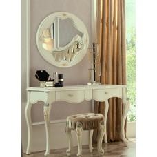 "MK-5003-WG. Туалетный столик + зеркалом + банкетка ""Luisa"" (113х46х77, 68x68, 47x47x48 см)"