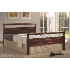 Кровать Nina MK-5232-RO (решетка металлическая.деревянные ламели), 160x200.140х200.