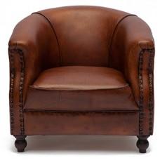 Кресло Secret De Maison «Йорк» (York) 4712 из натуральной кожи (Коричневый «Лофт»)