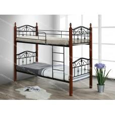 Кровать двухъярусная Mabel MK-5226-RO (решетка металлическая), 90x190