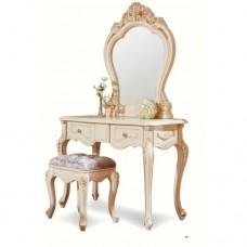 "MK-1850-IV. Туалетный столик с зеркалом БЕЗ БАНКЕТКИ ""Милано"" (106х47х176 см)"