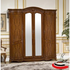 OYF-8929. Шкаф 4-дверный с зеркалами Виолетта 206х62х225 см