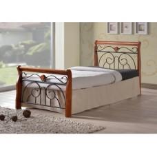 Кровать Tina MK-5227-RO (решетка металлическая), Размер:90x200