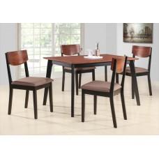 MK-5302-BF,комплект 1 стол + 4 стула с мягким сиденьем.Размер:75х120 см.
