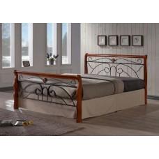 Кровать Tina MK-5228-RO (решетка металлическая),Размер: 160x200