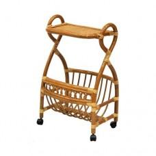 Столик с подставкой для газет на колесиках.